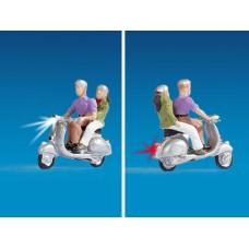 דגם של רוכבי אופנוע עם תאורה.
