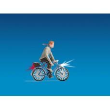 דגם של רוכב אופניים עם תאורה.