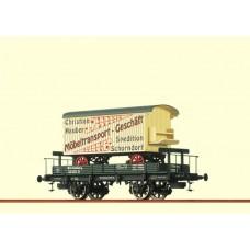 קרון משא גלוי עם מטען של קרון להובלת רהיטים של הרכבת המלכותית של מדינת וורטמברג בגרמניה (K.W.St.E.)