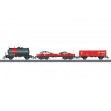 מערך 3 קרונות משא של רכבת גרמנית (DB AG)
