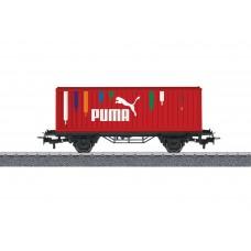 קרון שטוח עם מטען מכולה של רכבת גרמנית (DB AG)