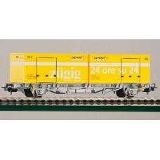 קרון שטוח להובלת מכולות דואר של רכבת שוויצרית (SBB)