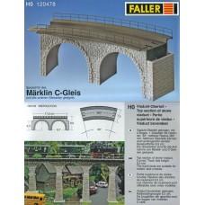 דגם של גשר מאבן  לרכבת