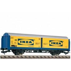 """קרון משא ארגזי """"IKEA"""" בעל קירות הזזה של רכבת גרמנית (DB AG)"""