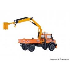 דגם להרכבה עצמית של משאית מנוף עם סלסל עבודה