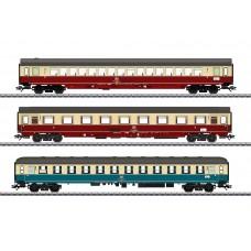 מערך של 3 קרונות נוסעים של רכבת מהירה IC - InterCity של הרכבת הגרמנית (DB AG)