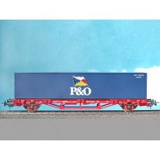 קרון משא שטוח להובלת מכולות של הרכבת הגרמנית (DB Cargo)