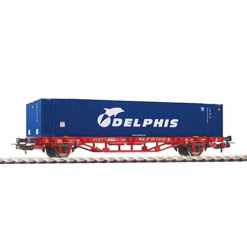 קרון משא שטוח להובלת מכולות של הרכבת ההולנדית (NS Cargo)