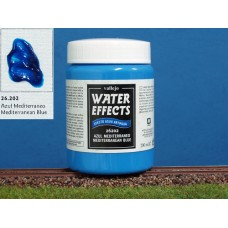 חומר להדמיית מים בגוון כחול ים תיכון - Mediterinean blue
