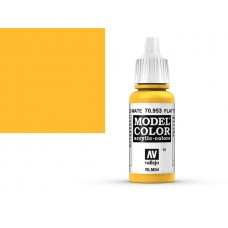 צבע בגוון צהוב שטוח - flat yellow