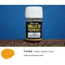 פיגמנט בצבע חום-צהוב כהה